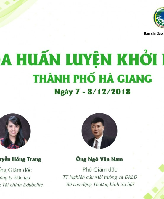 Ms Hồng Trang – Giảng viên Khóa Huấn luyện Khởi nghiệp TP Hà Giang