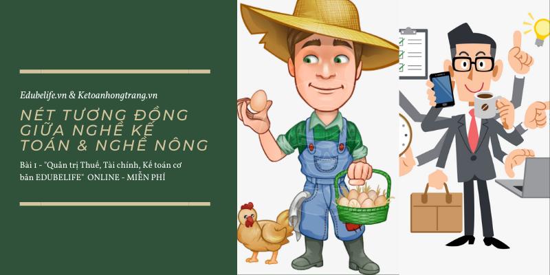 Nét tương đồng giữa nghề kế toán và nghề nông