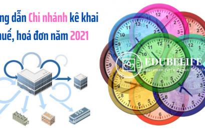 Hướng dẫn chi nhánh kê khai thuế, sử dụng hóa đơn năm 2021